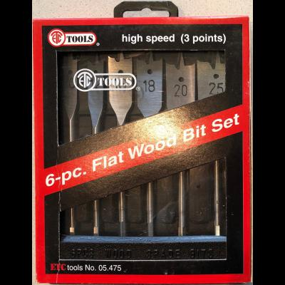 Nieuw ETC 6-pc Flat wood bit set - Hout boor set